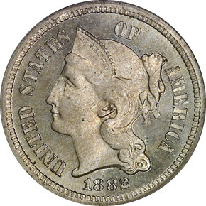 1882 3CN PF obverse