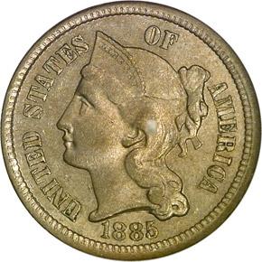 1885 3CN MS obverse