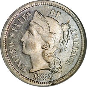 1888 3CN PF obverse