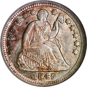 1849 O H10C MS obverse
