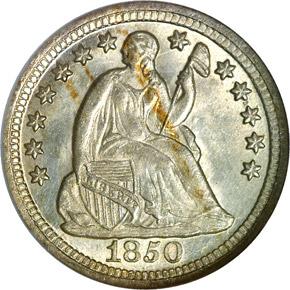 1850 O H10C MS obverse