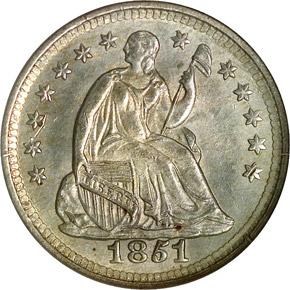 1851 O H10C MS obverse