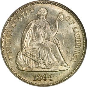 1864 H10C MS obverse