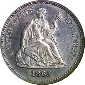 1865 H10C MS obverse