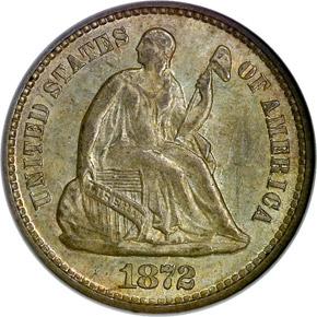 1872 H10C MS obverse