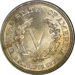 1883 NO CENTS 5C MS reverse