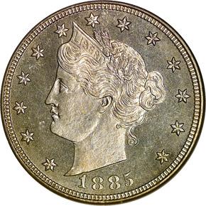 1885 5C PF obverse