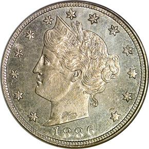 1886 5C MS obverse