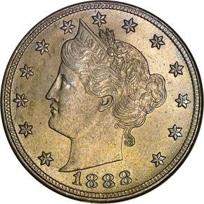1888 5C MS obverse