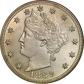 1889 5C MS obverse