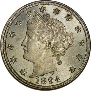 1894 5C MS obverse