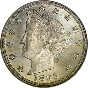 1895 5C MS obverse