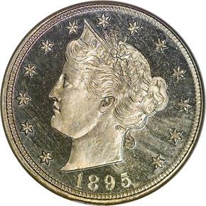 1895 5C PF obverse