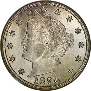 1898 5C MS obverse
