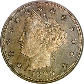 1899 5C PF obverse