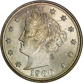 1900 5C MS obverse