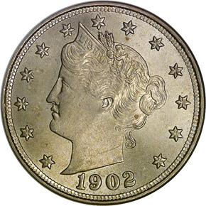 1902 5C MS obverse