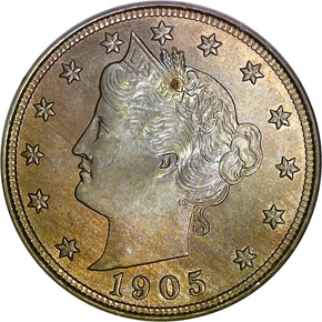 1905 5C MS obverse