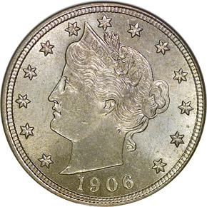 1906 5C MS obverse