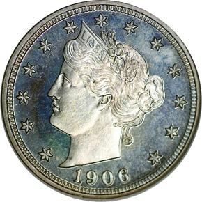 1906 5C PF obverse