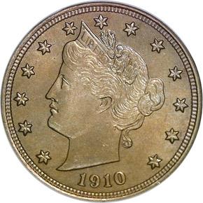 1910 5C MS obverse