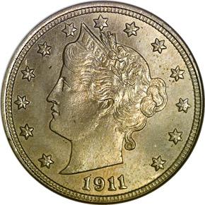 1911 5C MS obverse