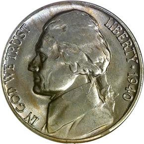 1940 S 5C MS obverse