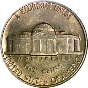 1942 NICKEL 5C MS reverse