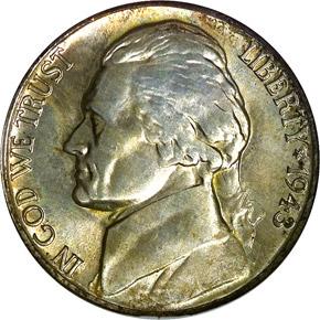 1943 D 5C MS obverse