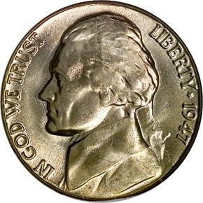 1947 D 5C MS obverse
