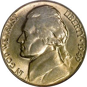 1949 5C MS obverse