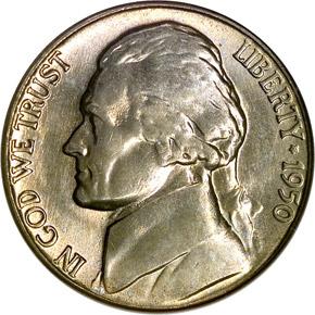 1950 5C MS obverse