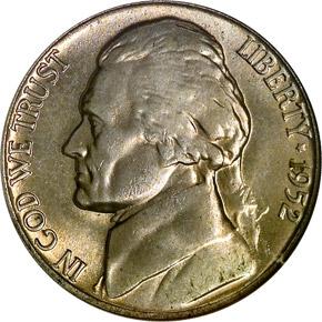1952 5C MS obverse