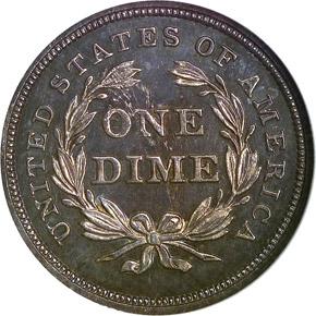 1840 NO DRAPERY 10C PF reverse