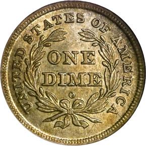 1840 O NO DRAPERY 10C MS reverse