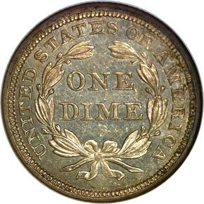 1840 DRAPERY 10C MS reverse