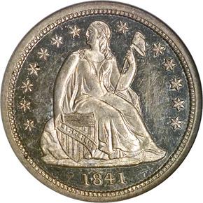 1841 10C PF obverse