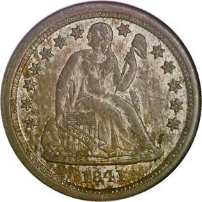 1841 O 10C MS obverse