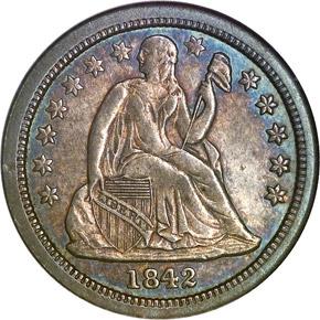 1842 O 10C MS obverse