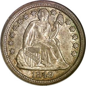 1849 O 10C MS obverse