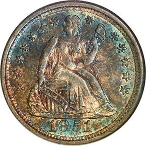1851 O 10C MS obverse