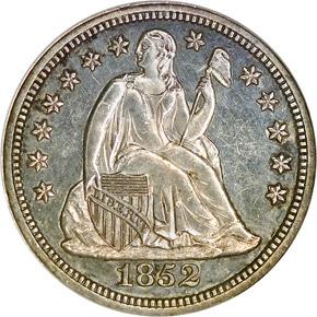 1852 10C PF obverse