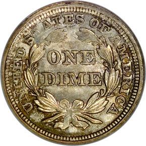 1857 10C MS reverse