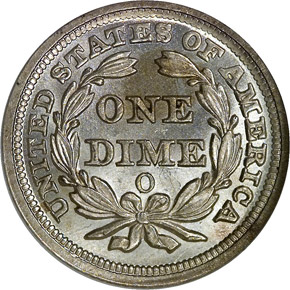 1857 O 10C MS reverse