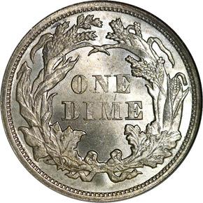 1862 10C MS reverse