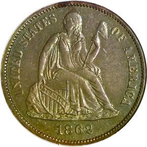 1862 10C PF obverse