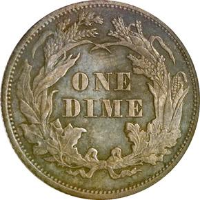1865 10C PF reverse