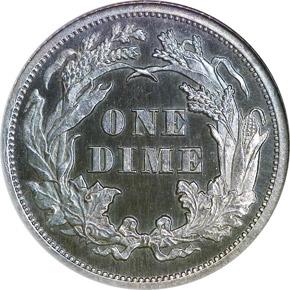 1866 10C PF reverse