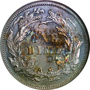 1868 10C MS reverse