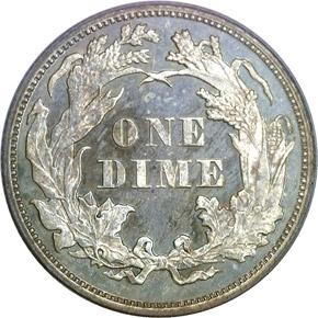 1868 10C PF reverse